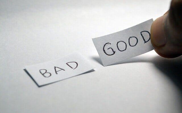 good or bad comparison